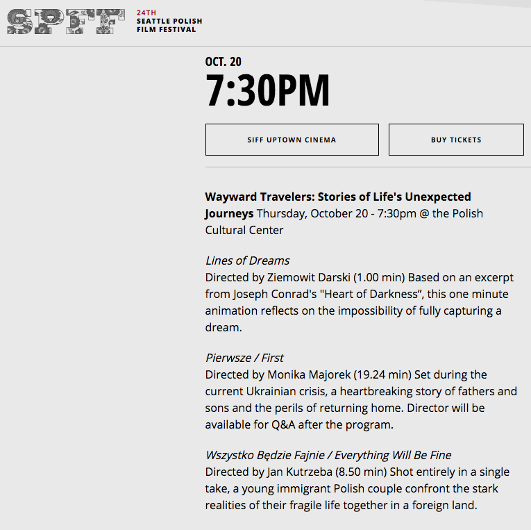 Lines of Dreams, my short animation, was screen at the SPFF